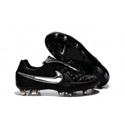 Nouveau Crampons Nike Tiempo Legend V FG Hommes Totti Premium Argenté Noir