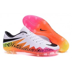 Nouvelle Chaussures de Football Nike Hypervenom Phantom FG Blanc Orange Rose Noir