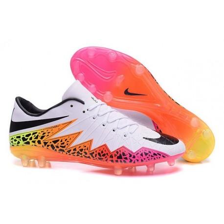 Nouvelle Chaussures de Football Nike Hypervenom Phantom FG Blanc Orange Rose Noir