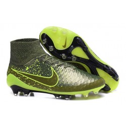2015 Chaussure de Football Nike Magista Obra FG Power Clash Vert Noir