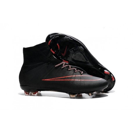 2015 Chaussures Nike Mercurial Superfly FG Rouge Noir