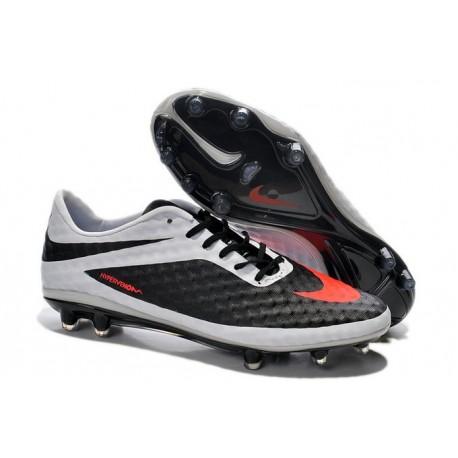 2014 Nike Hypervenom Phantom FG Chaussure de Football Rouge Blanc Noir