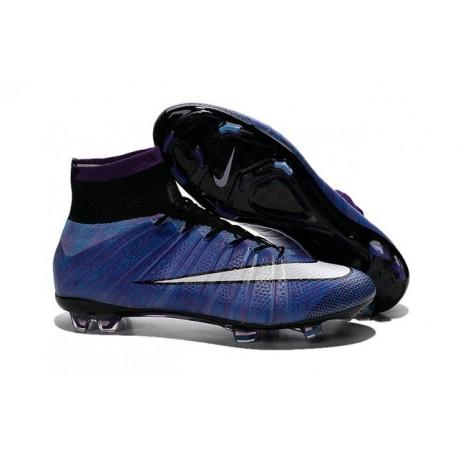 Nouveau Chaussures de Football Nike Mercurial Superfly 4 FG Violet Noir Blanc Multicolore
