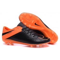Nouveau Nike Hypervenom Phinish II FG Chaussure de Football Hommes Cuir Orange Noir