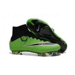 2015 Chaussures Nike Mercurial Superfly FG Vert Noir