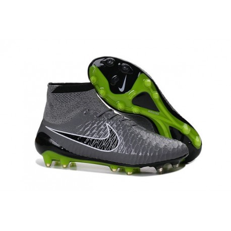 Nouvelle Crampons Nike Magista Obra FG Hommes Gris Noir Vert