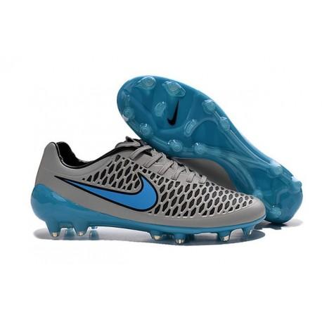 2015 Chaussure de Football Nike Magista Opus FG Hommes Gris Loup Bleu Turquoise Noir