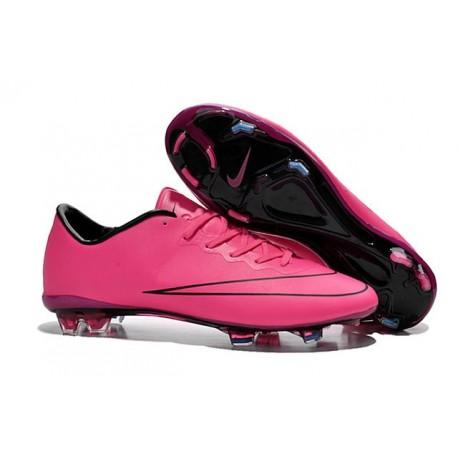 2015 Chaussure de Football Nike Mercurial Vapor 10 FG Hyper Rose Noir