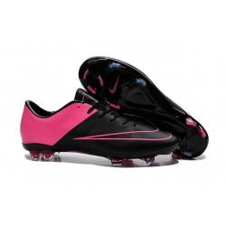Nouvelle Crampons de Football Nike Mercurial Vapor X FG Noir Hyper Rose