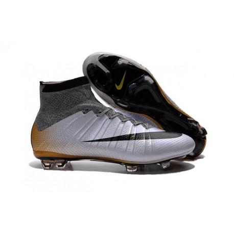 2016 Chaussures Nike Mercurial Superfly FG CR7 500 Argenté Gris Noir Or