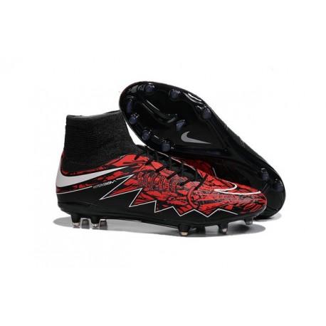 Nike HyperVenom Phantom II FG Football Crampons Lewandowski Blanc Rouge Noir