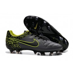 2016 Chaussures Football Nike Tiempo Legend V FG Anthracite Noir Volt