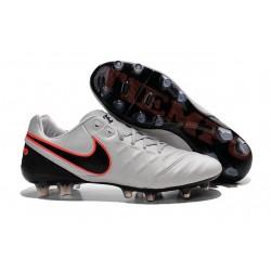 Chaussures Nike Tiempo Legend 6 FG Pas Cher Blanc Noir Orange