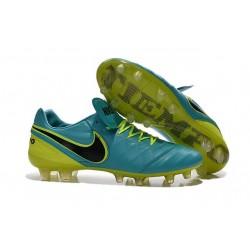 Chaussures Nike Tiempo Legend 6 FG Pas Cher Bleu Noir Volt