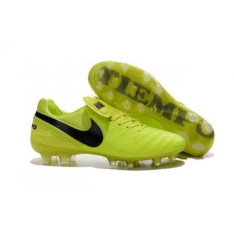 Nike 2016 Chaussures Nike Tiempo Legend VI FG Volt Noir