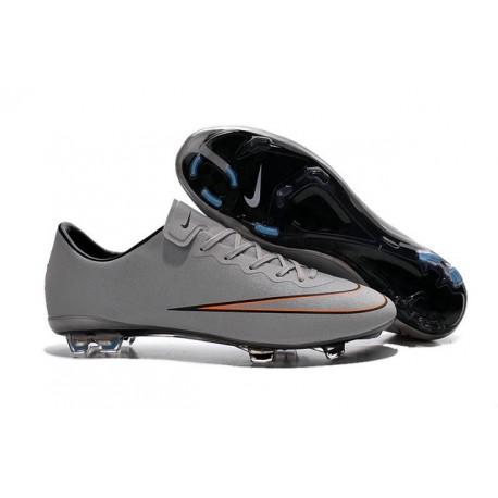 Nouvelle Crampons de Football Nike Mercurial Vapor X FG Argent Blanc Hyper Turquoise Noir