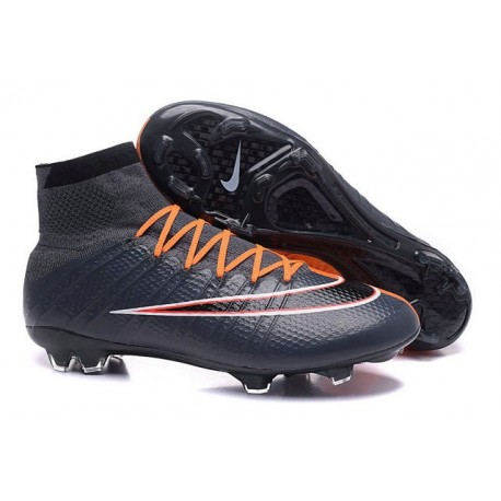 Nouveau Chaussures de Football Nike Mercurial Superfly 4 FG Noir Orange Blanc