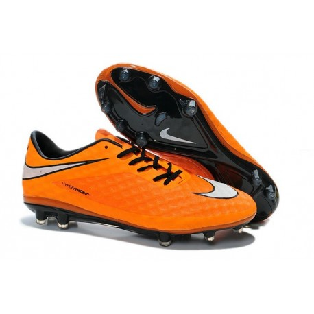Chaussures Football Nike Hypervenom Phantom FG Orange Blanc Noir