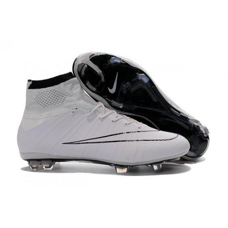 Nouveau Chaussures de Football Nike Mercurial Superfly 4 FG Noir Blanc