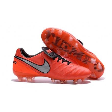 Chaussures Nike Tiempo Legend 6 FG Pas Cher Orange Noir Gris