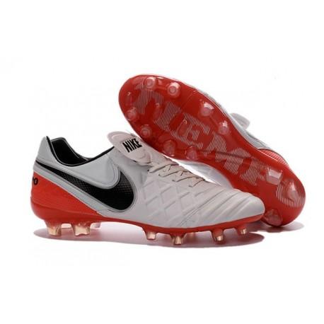 Nike 2016 Chaussures Nike Tiempo Legend VI FG Blanc Rouge Noir