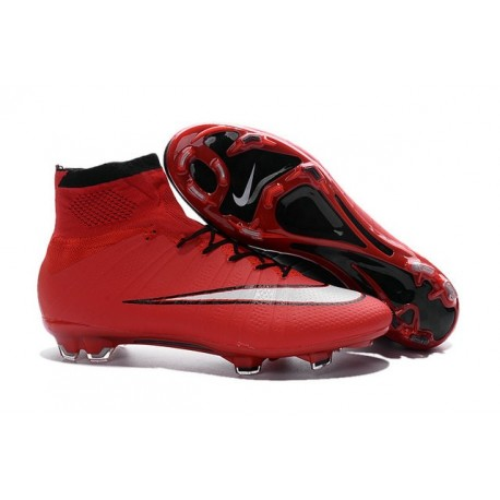 2016 Chaussures Nike Mercurial Superfly FG Rouge Noir Blanc