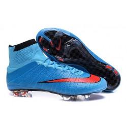 Nouveau Chaussures de Football Nike Mercurial Superfly 4 FG Bleu Rouge Noir