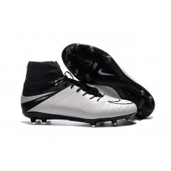 2016 Crampons Nike HyperVenom Phantom II FG Football Blanc Noir