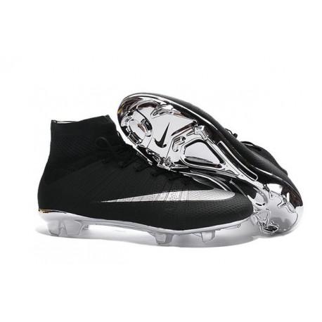 Nouveau Chaussures de Football Nike Mercurial Superfly 4 FG Argenté Noir