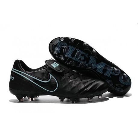 Nike 2016 Chaussures Nike Tiempo Legend VI FG Noir Bleu