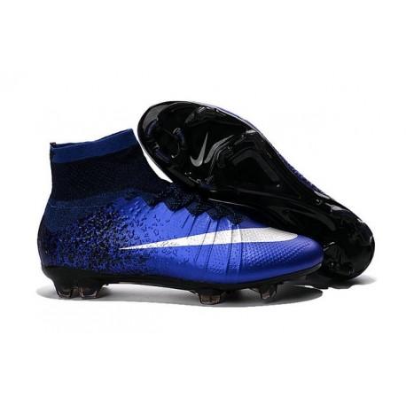 2016 Chaussures Nike Mercurial Superfly FG Bleu Royal Argent Bleu