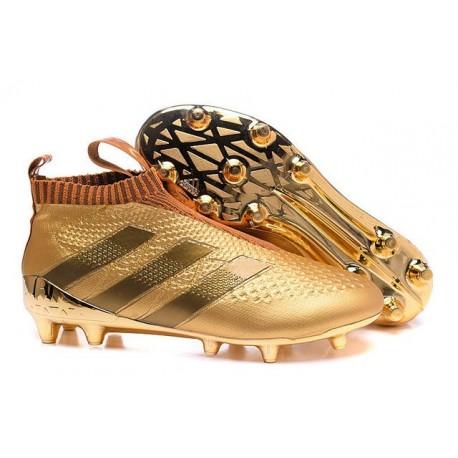 Nouveau Chaussures de Football Adidas Ace16+ Purecontrol FG/AG Or