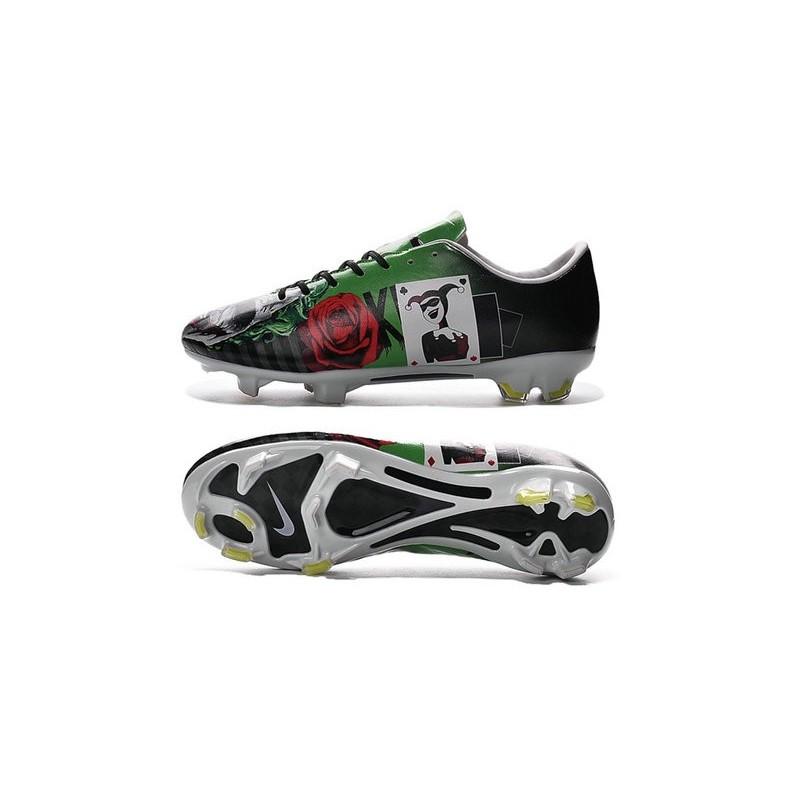 sneakers for cheap 76706 28edf Nouvelle Crampons de Football Nike Mercurial Vapor X FG Batman   Clown Vert  Rouge Jaune Noir