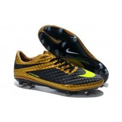Chaussures de Football Nike Hypervenom Phantom FG Hommes Or Noir Jaune