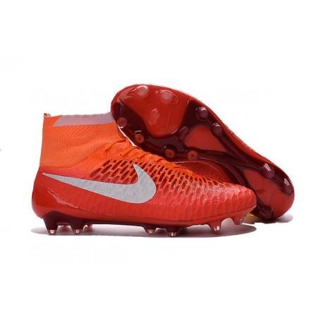 2016 Chaussure de Football Nike Magista Obra FG Orange Blanc
