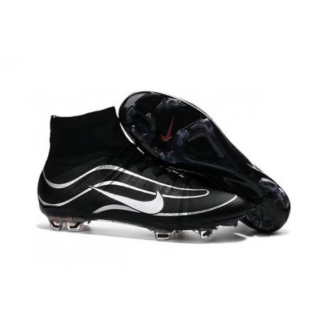 Nouveau Chaussures de Football Nike Mercurial Superfly Heritage FG Noir Argenté