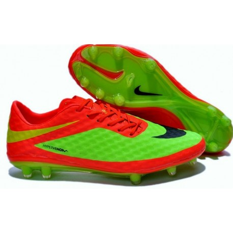 2014 FIFA Coupe du monde Brésil Nike Hypervenom Phantom FG Vert Rouge Noir