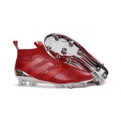 Nouveau Chaussures de Football Adidas Ace16+ Purecontrol FG/AG Argenté Rouge