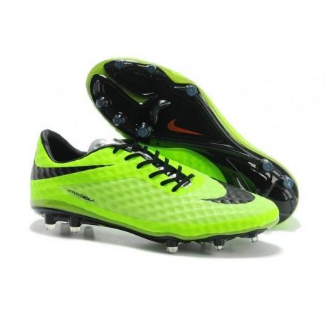 Chaussures de Football Nike Hypervenom Phantom FG Hommes Vert Noir