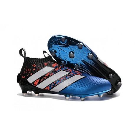 Nouveau Chaussures de Football Adidas Ace16+ Purecontrol FG/AG Paris Pack - Bleu Rouge Noir Blanc