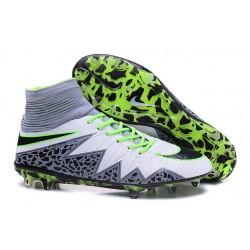 Nike HyperVenom Phantom II FG Football Crampons Blanc Vert Gris Noir