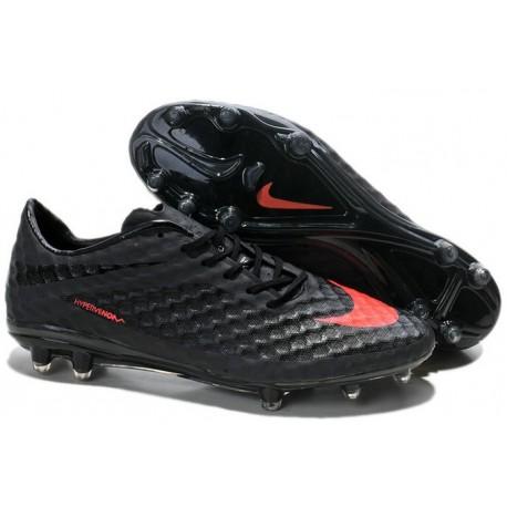 Nouvelle Chaussures de Football Nike Hypervenom Phantom FG Noir Orange