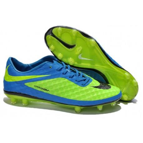 Nouveau Nike Hypervenom Phantom FG Chaussure de Football Hommes Vert Bleu Noir