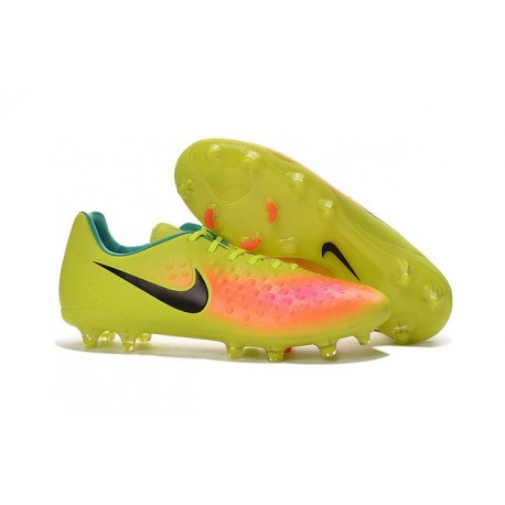 2016 Chaussure de Football Nike Magista Opus II FG Hommes Volt Noir Orange