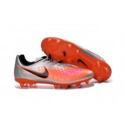 2016 Chaussure de Football Nike Magista Opus II FG Hommes Argent Orange Noir