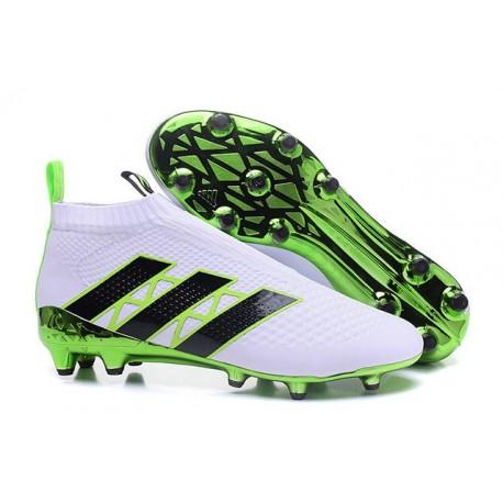 Nouveau Chaussures de Football Adidas Ace16+ Purecontrol FG/AG Vert Blanc Noir