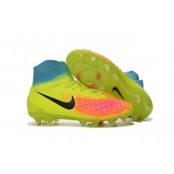 Chaussures de football pour Hommes Nike Magista Obra II FG Volt Noir Orange