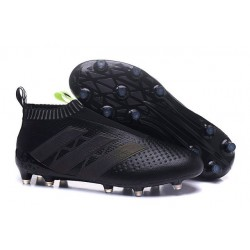 Nouveau Chaussures de Football Adidas Ace16+ Purecontrol FG/AG Noir Jaune
