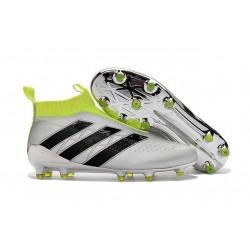 Nouveau Chaussures de Football Adidas Ace16+ Purecontrol FG/AG Argent Noir Jaune