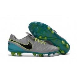 Chaussures Nike Tiempo Legend 6 FG Pas Cher Gris Loup Noir Jade